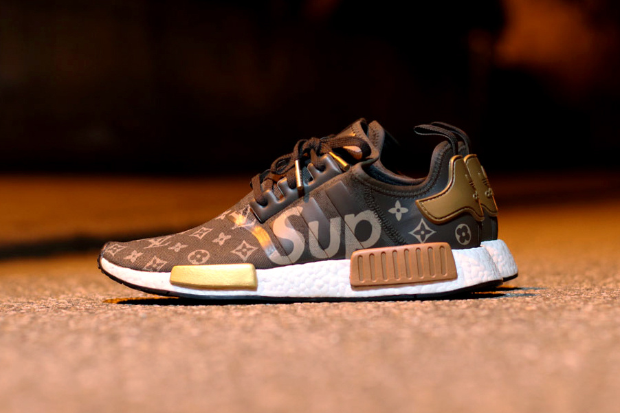 d10be94f15ba The Supreme x Louis Vuitton x adidas NMD R1 Custom Kicks - The Cut
