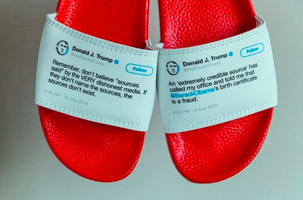 forget adidas slides wear donald trump s tweets as your choice