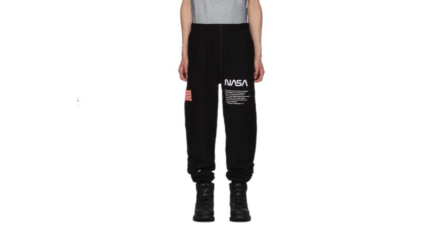 Black NASA Edition Lounge Pants