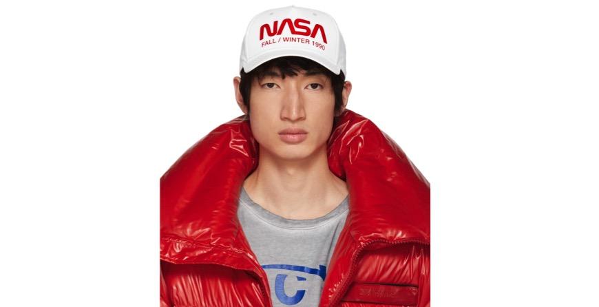 White NASA Edition Reflective Cap