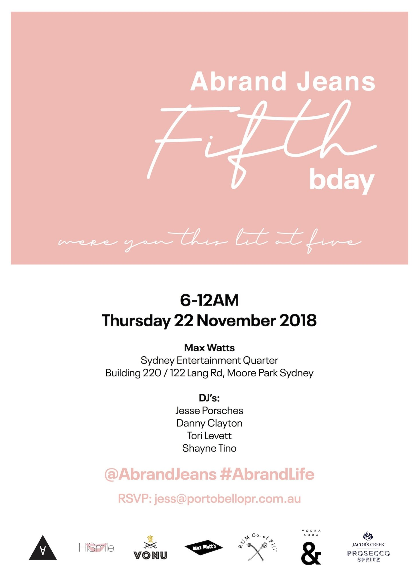 ABRAND FIFTH BDAY INVITE - THE CUT